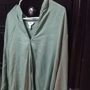 NWT Women's Olive Blouse